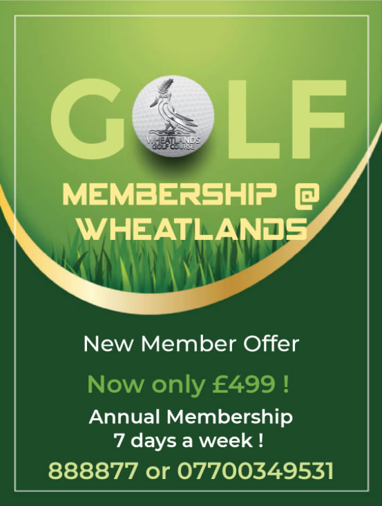 Golf Membership at the Wheatlands Golf Club and Gastropub, Jersey